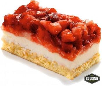 CAKE DE FRESAS NATURALES 40 X 27cm (113gr / 20 porciones)