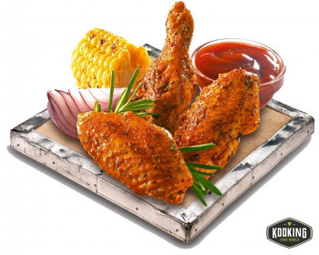 "ALITAS POLLO BBQ ""VIRGINIA CHICKEN\"" 40/60gr (320und/aprox)"