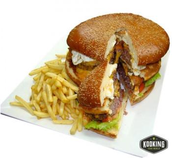 KIT HULKBURGER  (3 panes + 3 carnes + 12 baberos)
