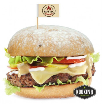 "KIT MEGA ANGUS BURGER 340gr (4und) \""Pan+Carne+Salsa+Banderita\"""
