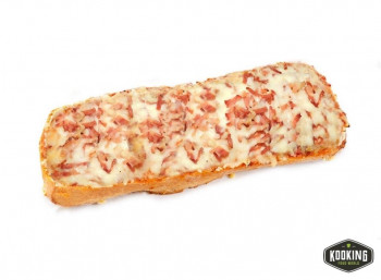 TOSTA PIZZA BACON Y QUESO 400gr/aprox (8und)