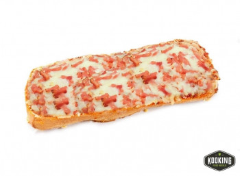 TOSTA PIZZA JAMON Y QUESO 400gr/aprox (8und)