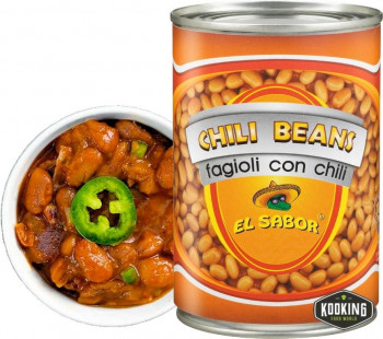 """CHILLI BEANS MEXICAN STYLE \""""FRIJOLES\"""" (410gr)"""