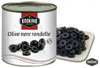 "OLIVE NERE RONDELLE \""ACEITUNA NEGRA RODAJAS\"" (3kg)"