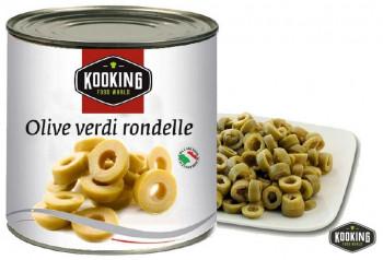 """OLIVE VERDE RONDELLE \""""ACEITUNA VERDE RODAJAS\"""" (3kg)"""