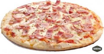 """PIZZA DE JAMON YORK Y QUESO \""""SIN GLUTEN\"""" 25cm / 300gr (10und)"""