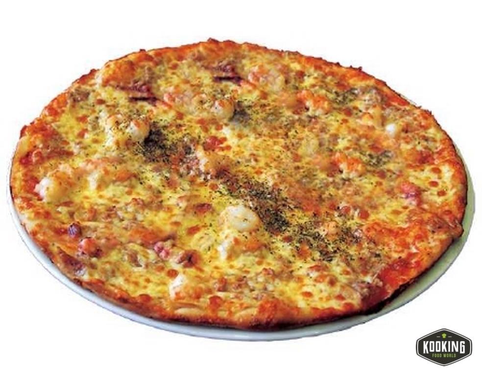 """PIZZA FRUTI DE MARE \""""SIN GLUTEN\"""" 25cm / 300gr (10und)"""